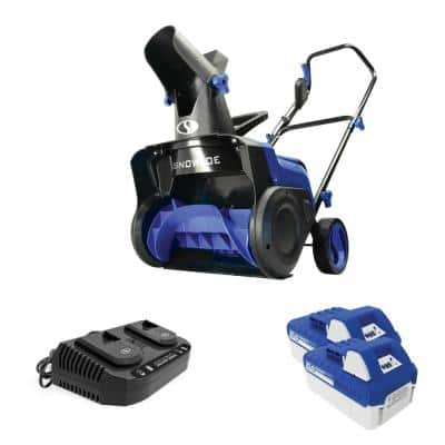 15 in. 48-Volt Cordless Electric Snow Blower Kit with 2 x 4.0 Ah Batteries Plus Charger
