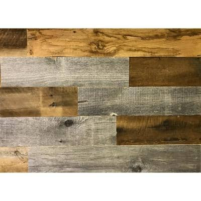 Artis Wall Authentic 3/16 in. Thick x 5 in. High x 12 in. to 44.31 in. Length, 20 sq. ft. Reclaimed Wood Wall Planks