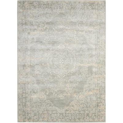 Euphoria Grey 5 ft. x 7 ft. Medallion Traditional Area Rug