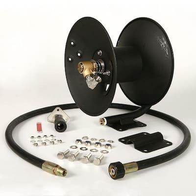 99023586 Steel Pressure Washer Reel for 50 ft. Hose with Pump, Black