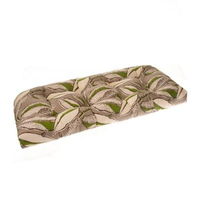 Panama 44 in. x 19 in. x 5 in. Outdoor Rectangular Loveseat Cushion in Tan