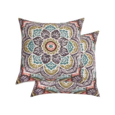 Hunza Grassland Square Outdoor Throw Pillows (2-Pack)