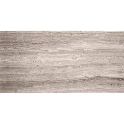 Limestone Gray Honed 12.01 in. x 24.02 in. Limestone Floor and Wall Tile (2.0 sq. ft.)