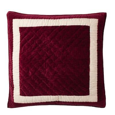 Orleans Multicolored Geometric Textured Cotton Blend Euro Sham