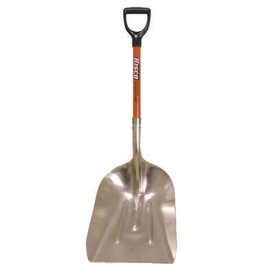 27 in. Fiberglass D-Grip Handle Aluminum Blade 4.25 lbs. 14.75 in. Western Grain Scoop Shovel