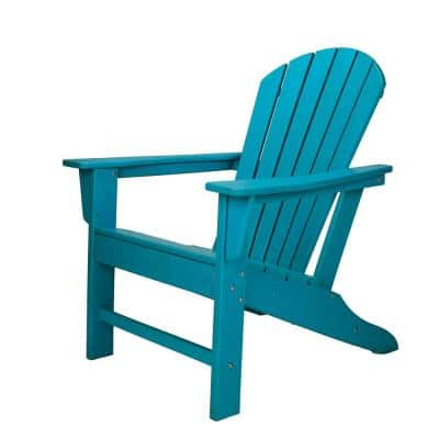 Sunny Turquoise Plastic Adirondack Chair