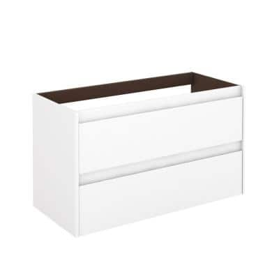 Ambra 39.3 in. W x 17.6 in. D x 21.8 in. H Bath Vanity Cabinet Only in Glossy White
