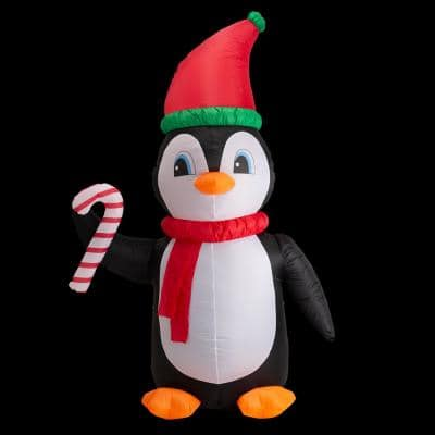 8 ft. Lighted Inflatable Penguin Decor