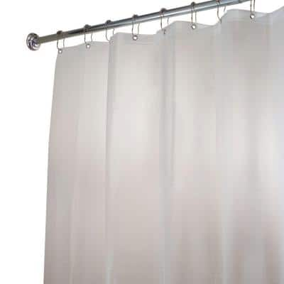 Poly Extra-Long Waterproof Shower Curtain Liner in White