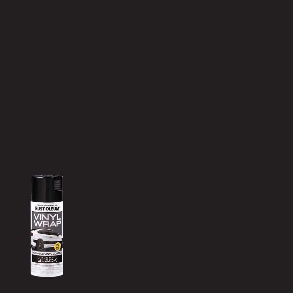 Rust-Oleum Automotive 11 oz. Vinyl Wrap Gloss Black Peelable Coating Spray Paint (6 Pack)