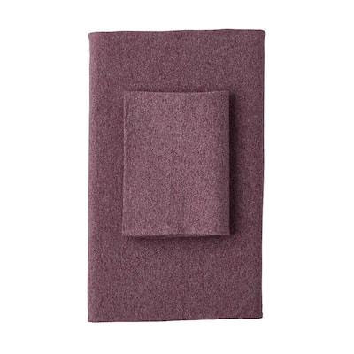 Logan Jersey Cotton Blend Twin Flat Sheet in Berry