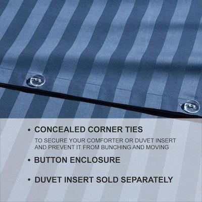 500 Thread Count Egyptian Cotton Damask Sateen Duvet Cover Set
