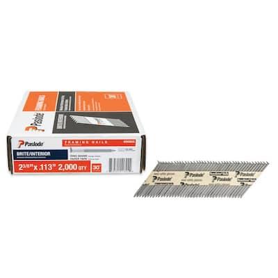 2-3/8 in. x 0.113-Gauge 30-Degree Steel Brite Ring Shank Paper Tape Framing Nails ( 2000 per Box )