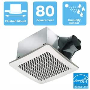 Signature Series 80 CFM Humidity Sensing Ceiling Bathroom Exhaust Fan, ENERGY STAR