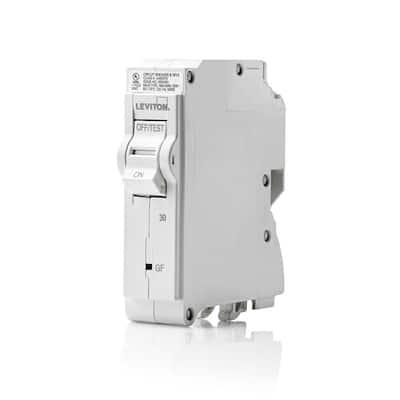 Branch Circuit Breaker, GFCI 1-Pole 30 Amp 120-Volt, Hydraulic Magnetic