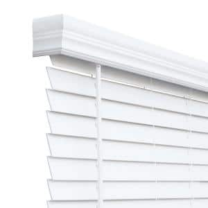 Chicology Cut To Size White Cordless Room Darkening Resists Humidity Faux Wood Blinds With 2 In Slats 40 5 In W X 72 In L Cfw Cw 40 5 72 The Home Depot
