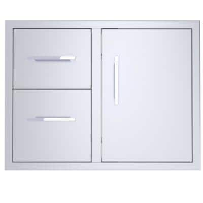 Signature 30 in. Stainless Steel Double Drawer and Door Combo