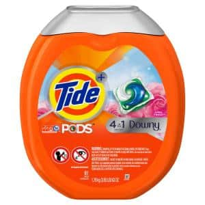 Pods April Fresh High Efficiency Laundry Detergent with Downy (61-Count)