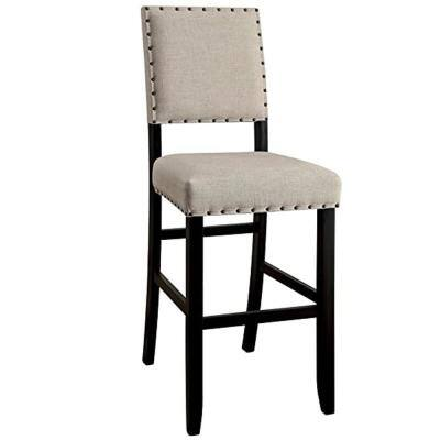 Sania II Antique Black Transitional Style Bar Chair