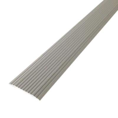 Cinch 1.25 in. x 36 in. Satin Silver Fluted Seam Cover Transition Strip