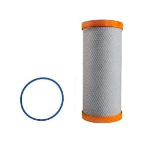 Replacement 10 in. Carbon Block Filter and O-Ring