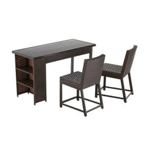 Rehoboth 3-Piece Wicker Outdoor Balcony Height Dining Set