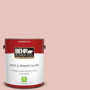 Behr Premium Plus 1 Gal S160 1 Iced Cherry Flat Low Odor Interior Paint And Primer In One 105001 The Home Depot