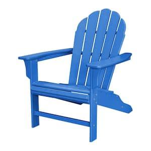 HD Pacific Blue Plastic Patio Adirondack Chair