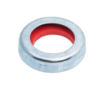 1-1/2 in. x 1-1/4 in. Sink Drain Pipe Zinc Slip-Joint Nut and Rubber Reducing Washer