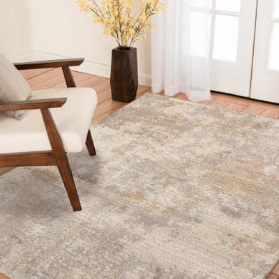 Medina Beige 2 ft. x 7 ft. Abstract Runner Rug