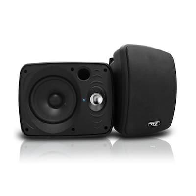 6.5 in. Waterproof Bluetooth Indoor and Outdoor Speaker, Black (Pair)