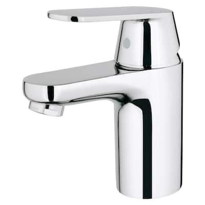 Eurosmart Cosmopolitan Single Hole Single-Handle Low-Arc Bathroom Faucet in StarLight Chrome