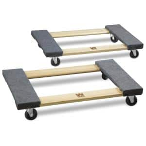 1320 lbs. Capacity 18 in. x 30 in. Hardwood Mover's Dolly (2-Pack)