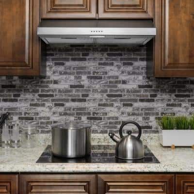 24 in. 58 CFM Kitchen Convertible Under Cabinet Range Hood in Brushed Stainless Steel w/ Carbon Filters and Push Button