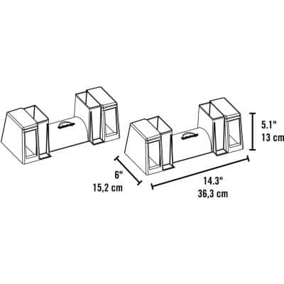 LumberRack 2-Way Adjustable Firewood Bracket Kit with Customizable Design (Designed to Firmly Fit 2 x 4 Lumber)