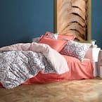 Orange Paradise Duvet Cover Set : Orange, Full Size Duvet Cover, 1 Duvet Cover, 1 Fitted Sheet and 2 Pillowcases