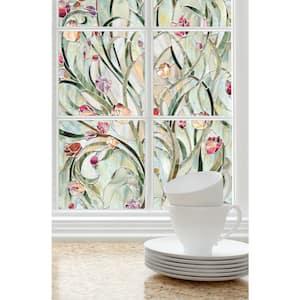 24 in. W x 36 in. H Spanish Garden Decorative Window Film