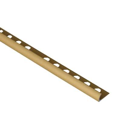 Novocanto Matt Gold 1/2 in. x 98-1/2 in. Aluminum Tile Edging Trim