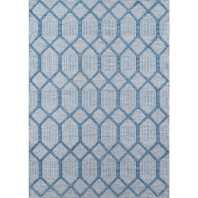 Langdon Cambridge Blue 7 ft. 6 in. x 9 ft. 6 in. Area Rug