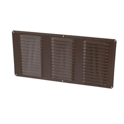 16 in. x 8 in. Rectangular Brown Screen Included Aluminum Soffit Vent