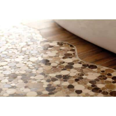 Fashion Accents Pebble Brown 12 in. x 12 in. x 9.5 mm Natural Stone Mosaic Floor and Wall Tile (1 sq. ft./Each)