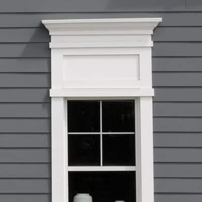 3/4 in. x 5-1/2 in. x 8 ft. White PVC Trim