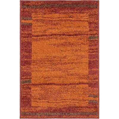 2 X 3 Orange Area Rugs Rugs The Home Depot