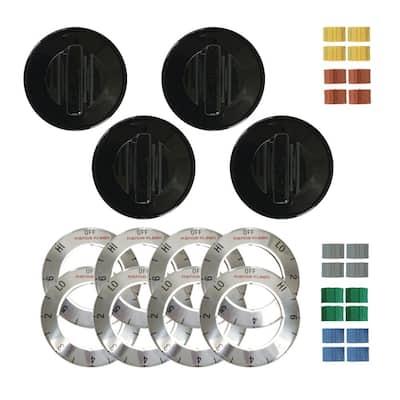 Electric Knob in Black (4-Pack)