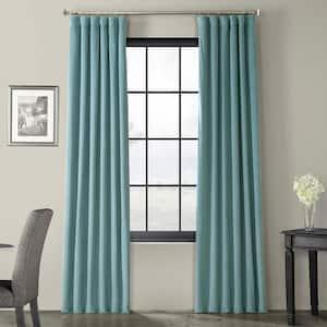 Signature Skylark Blue Blackout Velvet Curtain - 50 in. W x 120 in. L