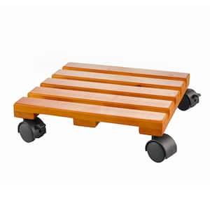 Planter Accessory 12 in. x 12 in. x 3.15 in. Wood Lattice Caddy