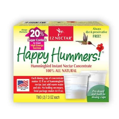 7.3 oz. All-Natural Hummingbird Nectar Concentrate Powder Mix (2-pack) (Total contents makes 64 oz. at 20% sugar level)