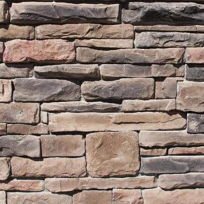 Easy Stack 1.5 to 4 in. x 5 in. to 9 in. Shiloh Mortared on Concrete Ledge Stone Flat 150 sq. ft. Crated