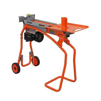 5-Ton Electric Log Splitter with Stand and Log Tray 15Amp