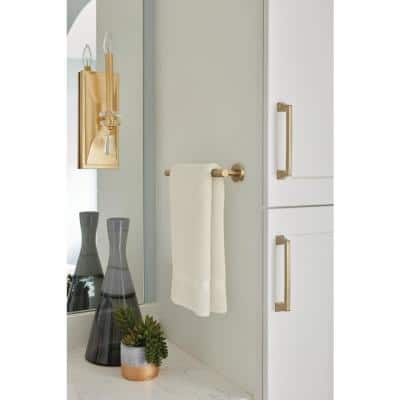 Arrondi 9 in. Towel Bar in Brushed Bronze/Golden Champagne